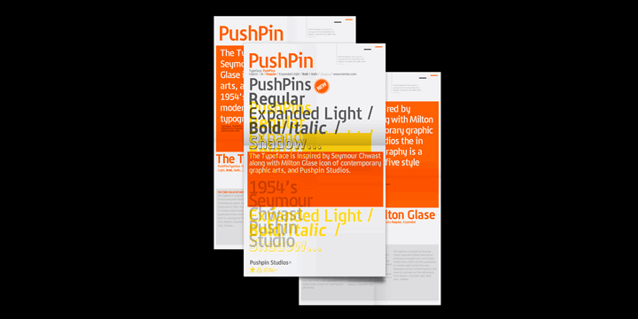 PushPins font by tomtor