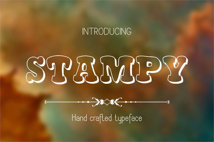 Stampy font by Eva Barabasne Olasz