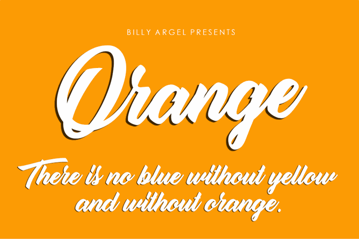 Orange Personal Use font by Billy Argel