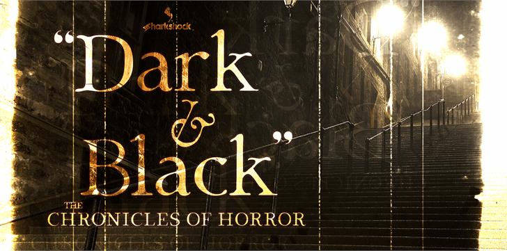 Dark & Black font by sharkshock