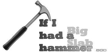 Big Slab Hammer font by Manfred Klein