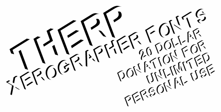 Therp font by Xerographer Fonts
