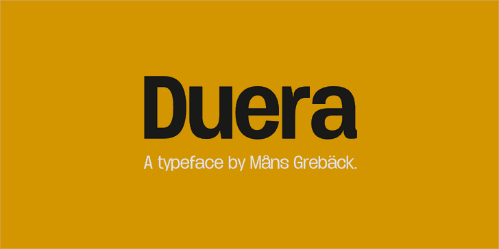Duera PERSONAL USE Normal font by Måns Grebäck