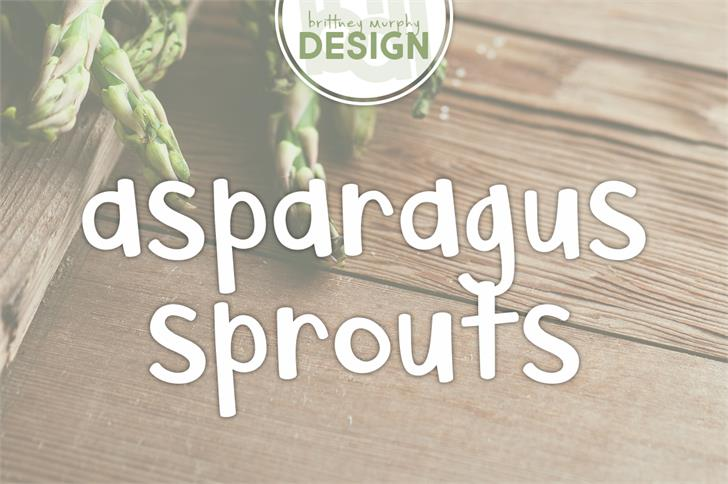 Asparagus Sprouts font by Brittney Murphy Design