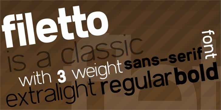 Filetto font by Zetafonts