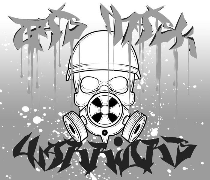 Gas Mask Warriors font by Chris Vile