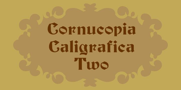 Cornucopia Caligrafica Two font by Intellecta Design
