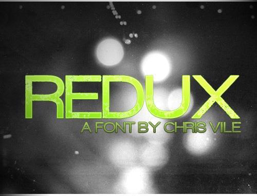 Redux font by Chris Vile