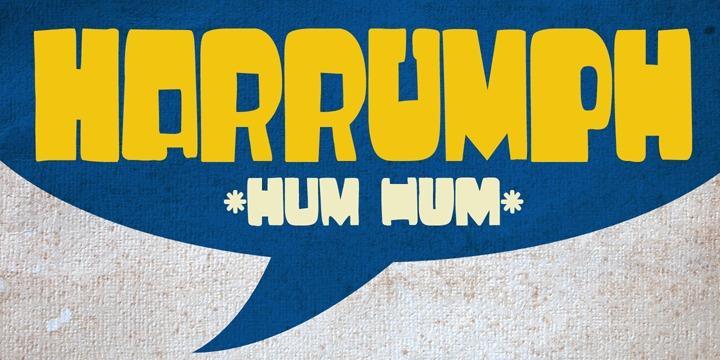 DK Harrumph font by David Kerkhoff