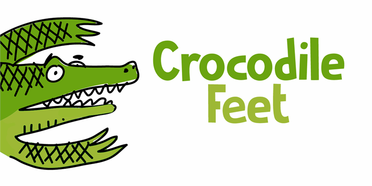 Crocodile Feet DEMO font by David Kerkhoff