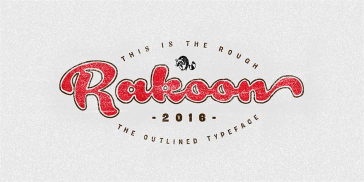 Rough Rakoon PERSONAL USE font by Måns Grebäck