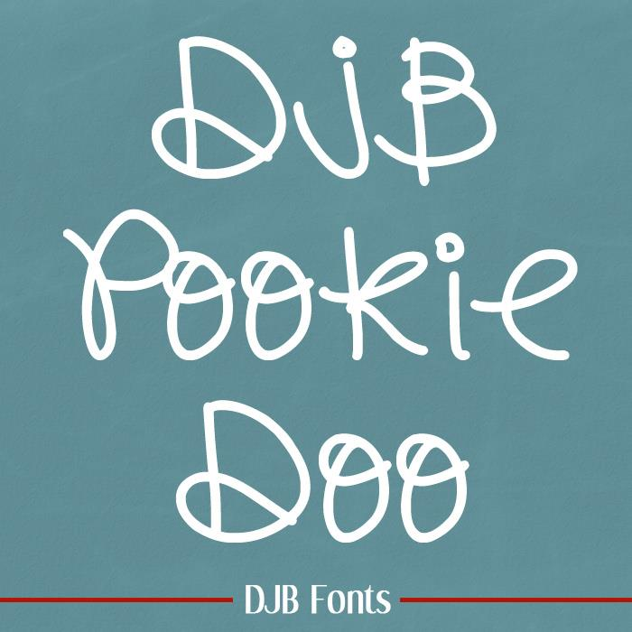 DJB Pookie Doo font by Darcy Baldwin Fonts