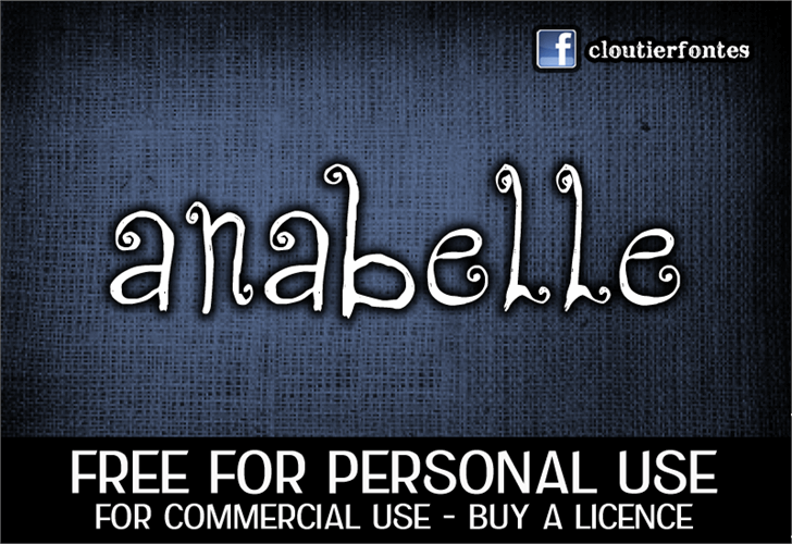 CF Anabelle font by CloutierFontes