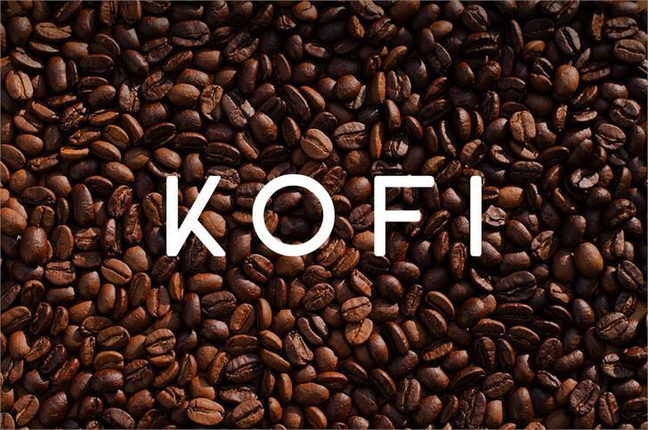 KOFI font by Zansari NZ