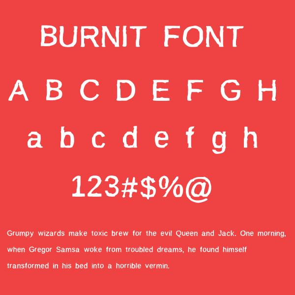BurnIt font by socialh