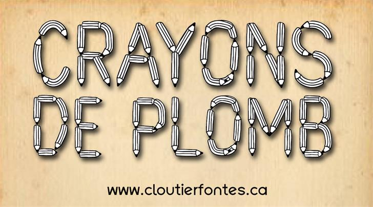 CF Crayons de plomb PERSONALUSE font by CloutierFontes