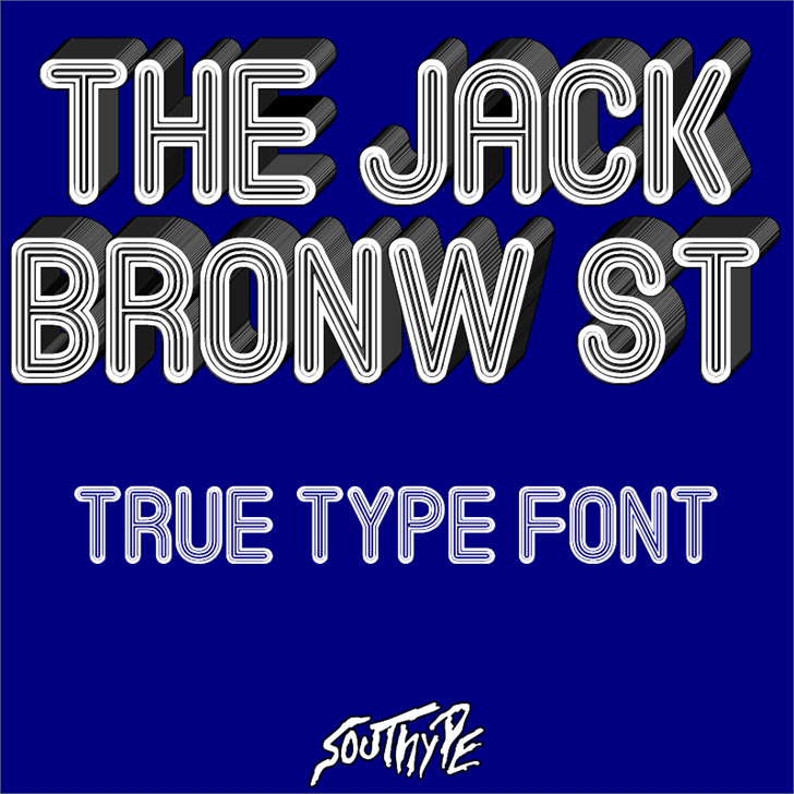 The Jack Bronw St font by Southype