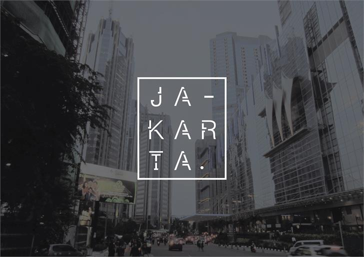 JAKARTA font by Dominique Thiodorus