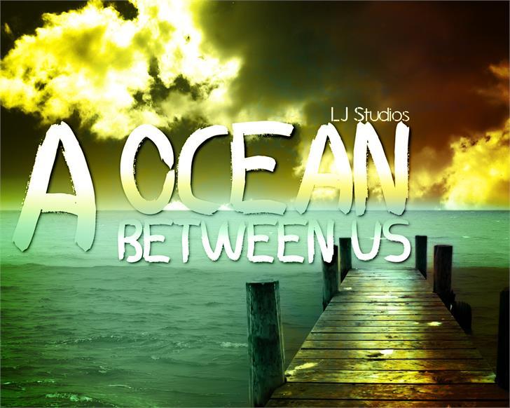 A ocean between US font by LJ Design Studios