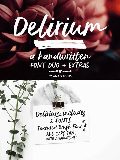 Delirium Sample font by justlikethistrain