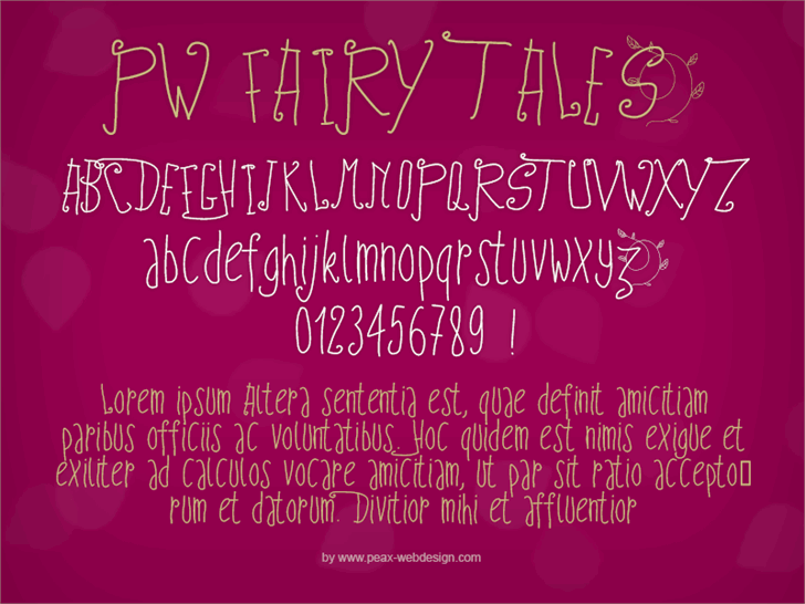PWFairyTales font by Peax Webdesign