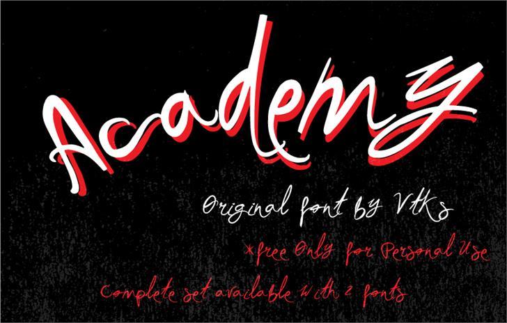 Vtks Academy font by VTKS DESIGN