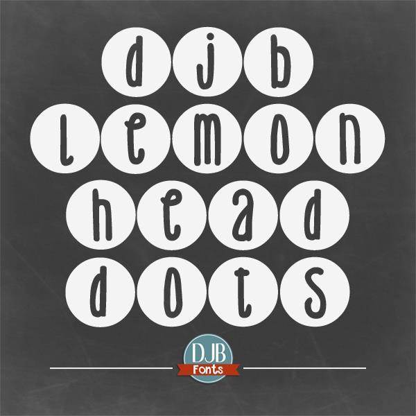 DJB Lemon Head Dots font by Darcy Baldwin Fonts