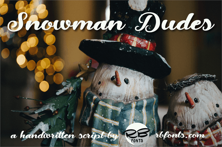 Snowman Dudes font by RB Fonts