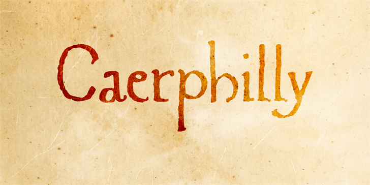 Caerphilly DEMO font by David Kerkhoff