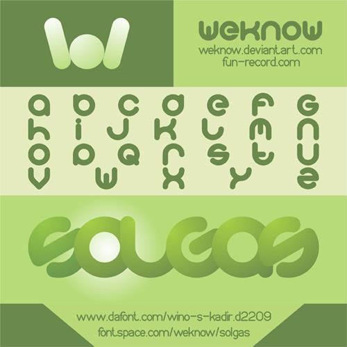 solgas font by weknow
