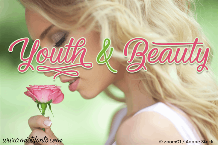 Youth and Beauty font by Misti's Fonts