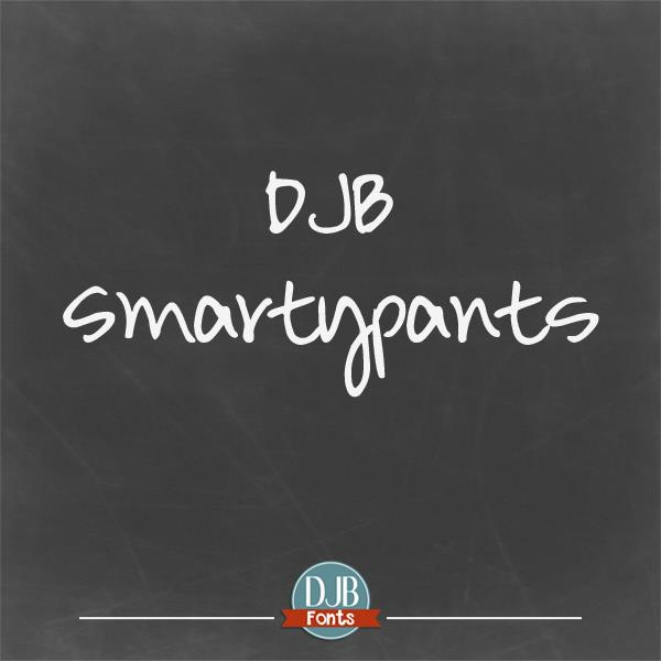 DJB Smarty Pants font by Darcy Baldwin Fonts