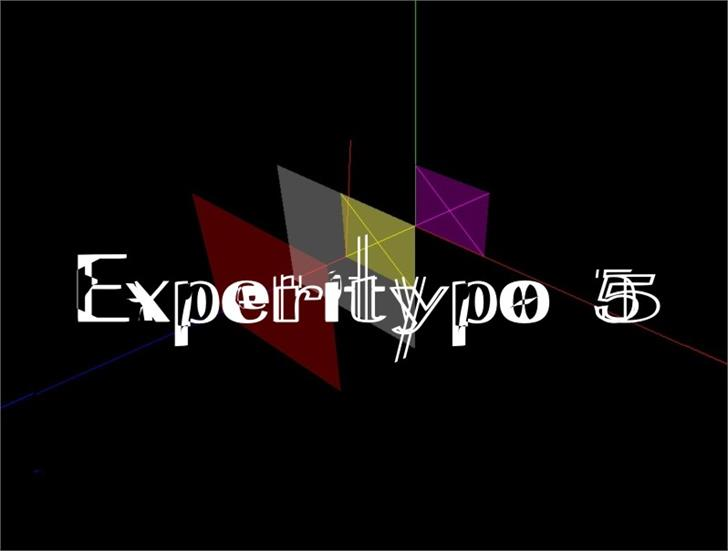 ExperiTypo5 font by Intellecta Design