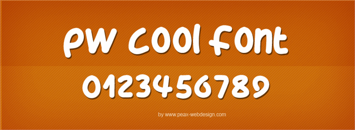 PWCoolFont by Peax Webdesign
