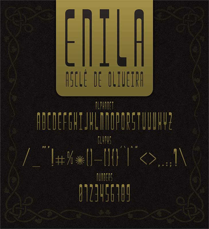 Enila font by Asclê de Oliveira