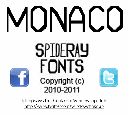 MONACO font by SpideRaYsfoNtS