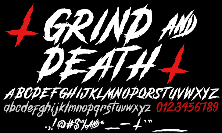 GrindAndDeath_Demo font by knackpackstudio