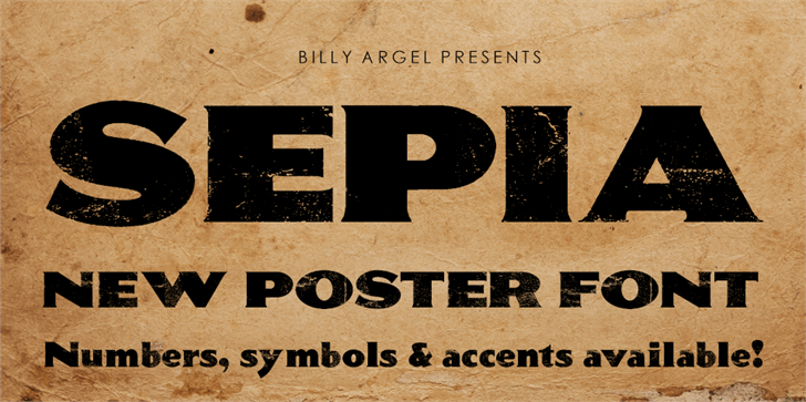 SEPIA Personal Use font by Billy Argel