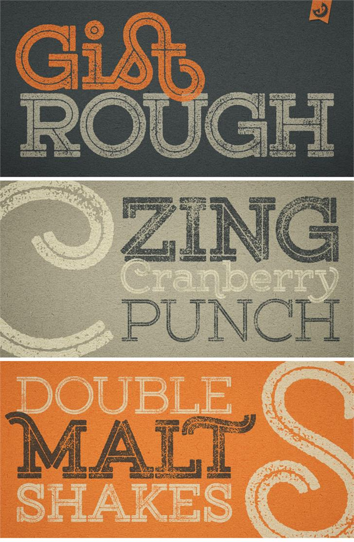 Gist Rough Upr Exbold Two Demo font by Yellow Design Studio