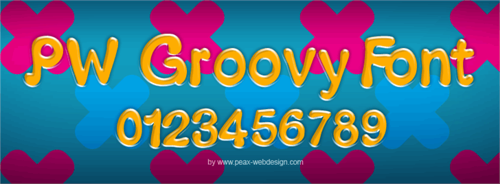PWGroovy font by Peax Webdesign