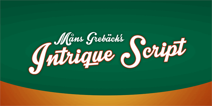Intrique Script Personal Use font by Måns Grebäck