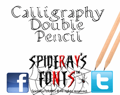 Calligraphy Double Pencil font by SpideRaYsfoNtS
