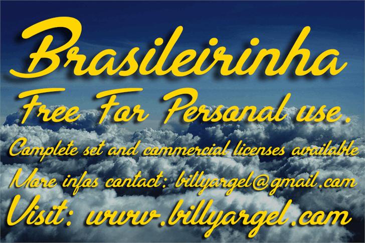 Brasileirinha Personal Use font by Billy Argel