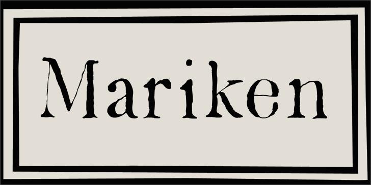 DK Mariken font by David Kerkhoff