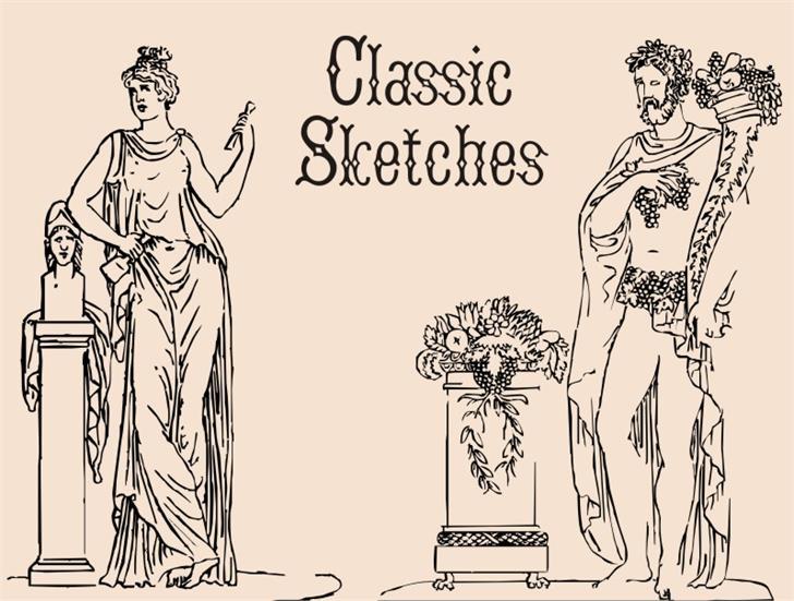 ClassicSketches font by Intellecta Design