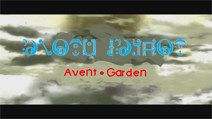 Avent Garden font by heaven castro