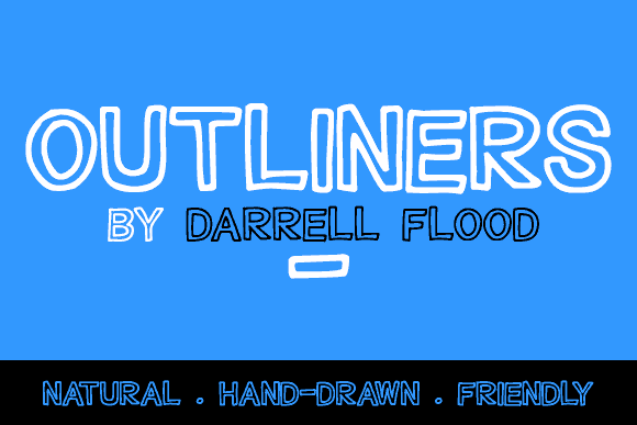 Outliners font by Darrell Flood