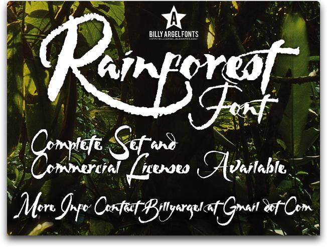 RAINFOREST font by Billy Argel