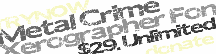 MetalCrime font by Xerographer Fonts