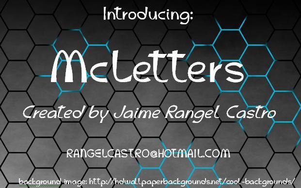 McLetters font by Jaime Rangel Castro